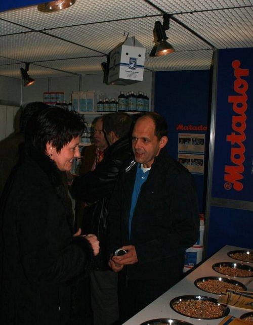 Dierenarts Geert De Schepper en dame op Olympiade