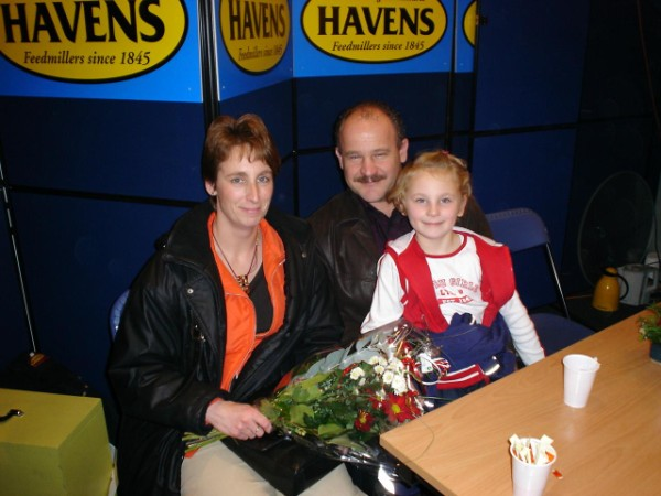 Foto van Huub, Diana en Saskia Hermans in de stand van Havens (Beurs Rosmalen)